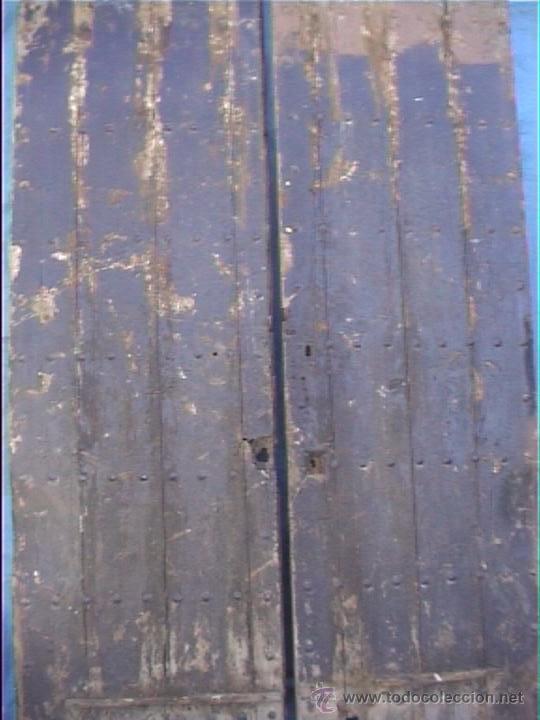 Antigüedades: ESPECTACULAR PUERTA PORTON MASIA CATALANA SXIX - Foto 2 - 22784740