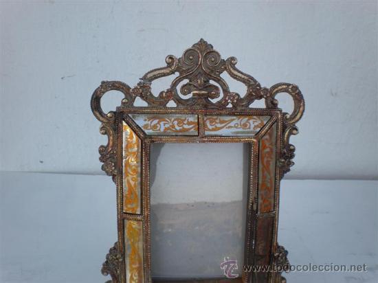 Antigüedades: marco en pasta y cristales - Foto 2 - 22809938