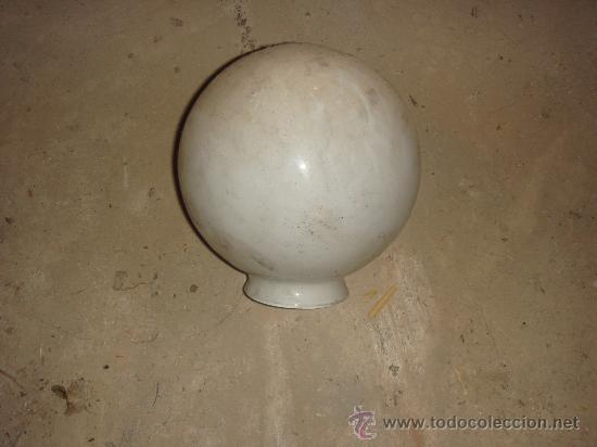 Antigüedades: Antiguo globo blanco de cristal . años 40 - Foto 2 - 22817752