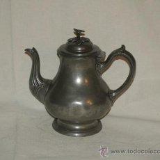 "Antigüedades: CAFETERA ESTAÑO. INGLATERRA. ""SHEFFIELD"" CIRCA 1900. Lote 22818572"