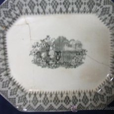 Antigüedades: GRANDIOSA FUENTE. JARRONES EUROPEOS. CARTAGENA. SIGLO XIX. ROTA Y PEGADA.. Lote 27161909