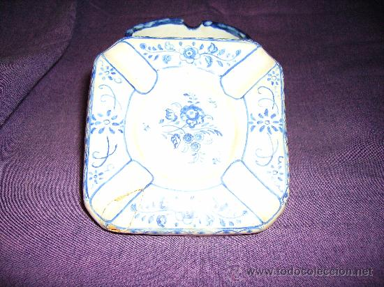 Antigüedades: Cenicero de ceramica de TALAVERA DE LA REINA Ceramista Ruiz de Luna - Foto 2 - 25062727