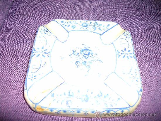 CENICERO DE CERAMICA DE TALAVERA DE LA REINA CERAMISTA RUIZ DE LUNA (Antigüedades - Porcelanas y Cerámicas - Talavera)