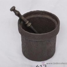 Antigüedades: MORTERO DE HIERRO MUY ANTIGO. Lote 22919167