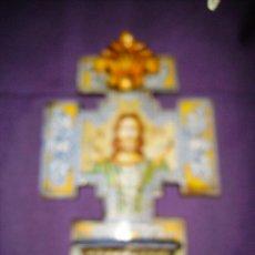 Antigüedades: PILETA BENDITERA DE CERAMICA , CERAMISTA ROBLES. Lote 25089438