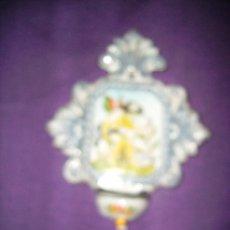 Antigüedades: PILETA BENDITERA DE CERAMICA , CERAMISTA ROBLES. Lote 25089469