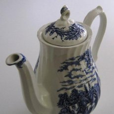 Antigüedades: CAFETERA BLUE AND WHITE, MYOTT ROYAL MAIL, ALTO 23 CM.. Lote 27188440