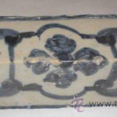 Antigüedades: ALISAR DE TRIANA. AZULEJO PARA BORDE DE VENTANA O BALCÓN. S.XVII - XVIII. Lote 26373437