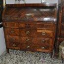 Antigüedades: IMPORTANTE BURO CARLOS IV EN MADERA DE RAICES.. Lote 26613870