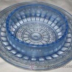 Antigüedades: SALSERA DE CRISTAL REPUJADO. Lote 23083338