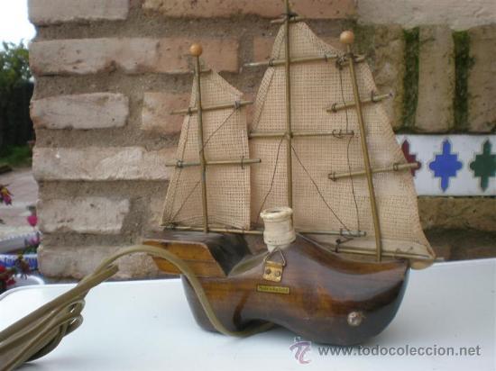 Antigüedades: lampara de pared forma de barco - Foto 2 - 23103069
