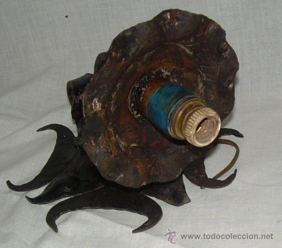 Antigüedades: PRECIOSO APLIQUE DE PARED DE HIERRO FORJADO, . - Foto 4 - 26790334