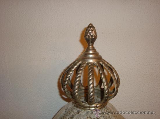 Antigüedades: corona para virgen, metal, pesada, diametro base, 6,5cm altura 18 cm , - Foto 3 - 23133545