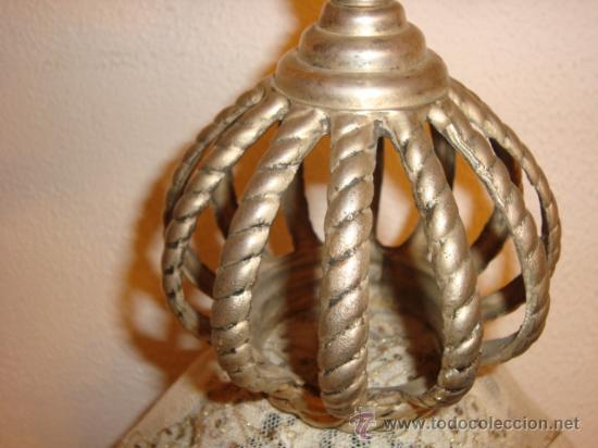 Antigüedades: corona para virgen, metal, pesada, diametro base, 6,5cm altura 18 cm , - Foto 4 - 23133545