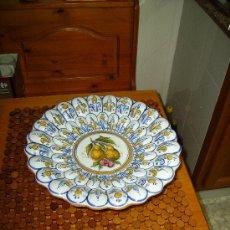 Antigüedades: MAGNIFICO FRUTERO GALLONADO DE CERAMICA DE TALAVERA. Lote 26710634