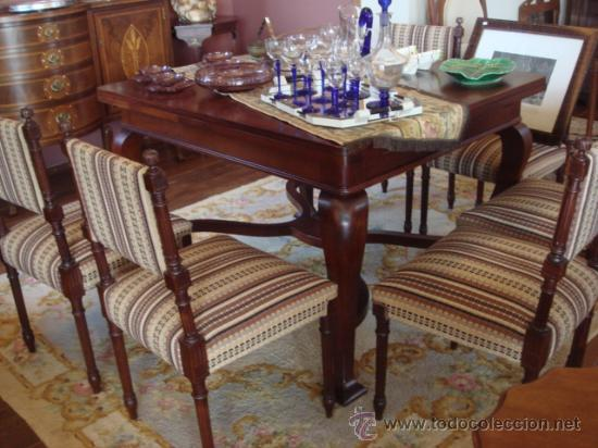 Antigua mesa de comedor extensible en madera de comprar - Mesa comedor antigua ...