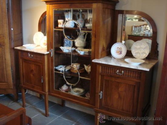Antiguo mueble de comedor con vitrina restaura comprar - Comedor con vitrina ...