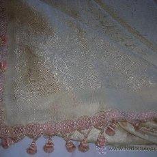 Antigüedades: COLCHA ADAMASCADA - FINALES DE 1800-. Lote 26006117