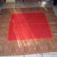 Antigüedades: MANTON CUADRADO EN LANA. Lote 23205633