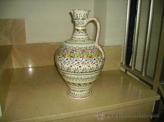 Antigüedades: Magnifica cantaro de ceramica de Puente del Arzobispo , ceramista CRUZ - Foto 3 - 26654987