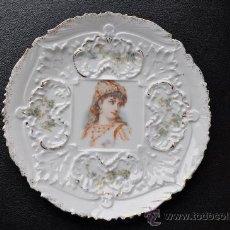 Antigüedades: MUY ANTIGUO PLATO POSIBLE FRANCES O ALEMAN. Lote 23240905