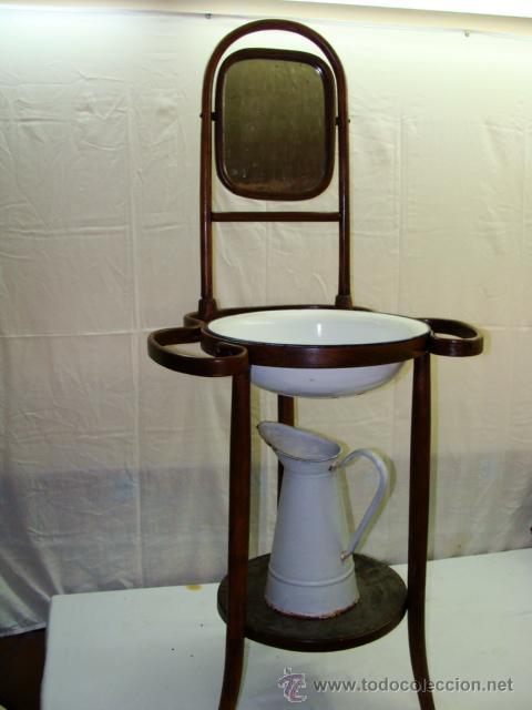 Antiguo lavamanos con espejo palangana y jofai comprar for Decoracion con espejos antiguos