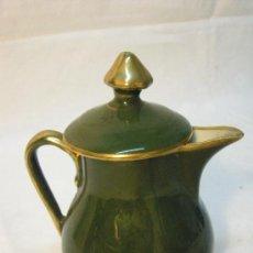 Antigüedades: MINI CAFETERA DE PORCELANA LIMOGES PILLIVUYT DE FINALES XIX. Lote 27427528