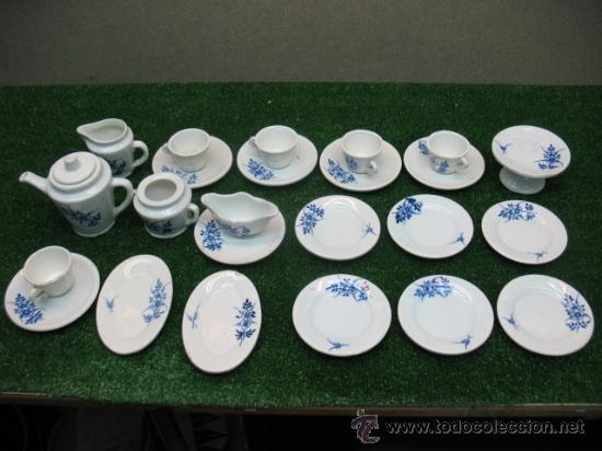 JUEGO CERAMICO DE CAFE (Antigüedades - Porcelanas y Cerámicas - Talavera)
