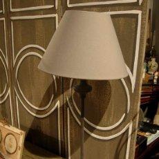 Antigüedades: PANTALLA DE HIERRO CON TULIPA . Lote 27598503