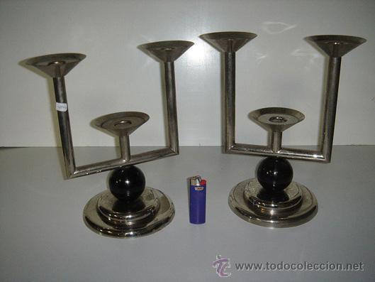 CANDELABROS DE ESTILO ART DECO (Antigüedades - Iluminación - Candelabros Antiguos)