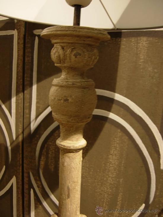 Antigüedades: BONITA PANTALLA DE MADERA TRABAJADA - Foto 3 - 27598504
