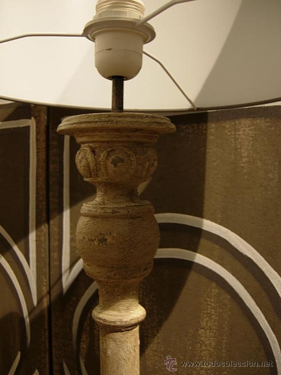 Antigüedades: BONITA PANTALLA DE MADERA TRABAJADA - Foto 4 - 27598504