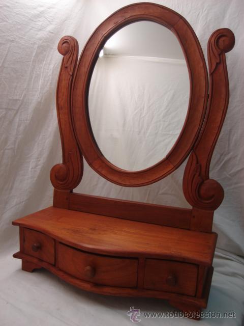 precioso mueble tocador con espejo ovalado y tr - Comprar Espejos ...