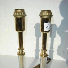 Antigüedades: LAMPARA DE METAL Y CRISTAL. Lote 23522716