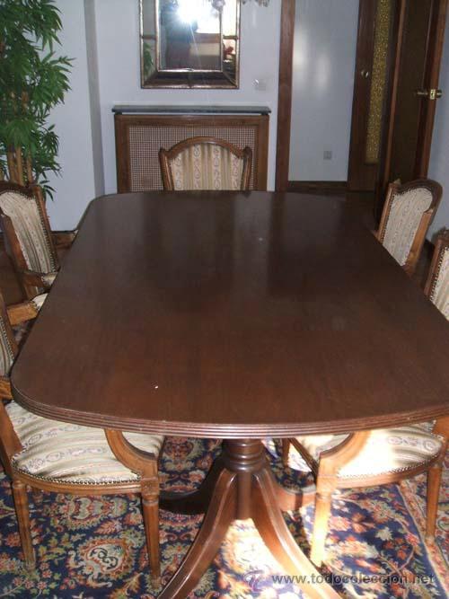 mesa de comedor en nogal de grandes dimensiones - Comprar Mesas ...