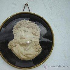 Antigüedades: RELICARIO CRISTO EN TELA EN RELIEVES. Lote 23553870