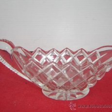 salsera de cristal tallado