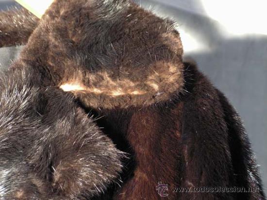 Antigüedades: Peletería Braun. Abrigo largo de visón marrón oscuro. Art Nouveau. - Foto 2 - 23570389