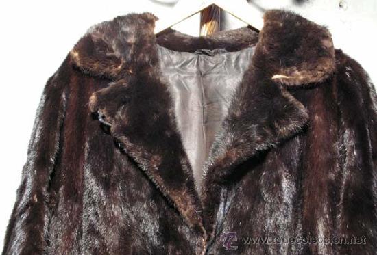 Antigüedades: Peletería Braun. Abrigo largo de visón marrón oscuro. Art Nouveau. - Foto 3 - 23570389