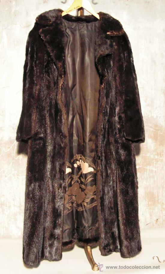Antigüedades: Peletería Braun. Abrigo largo de visón marrón oscuro. Art Nouveau. - Foto 4 - 23570389