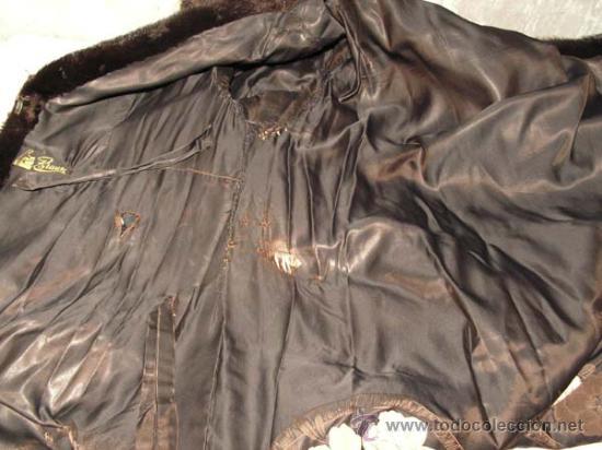 Antigüedades: Peletería Braun. Abrigo largo de visón marrón oscuro. Art Nouveau. - Foto 5 - 23570389