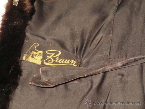 Antigüedades: Peletería Braun. Abrigo largo de visón marrón oscuro. Art Nouveau. - Foto 6 - 23570389