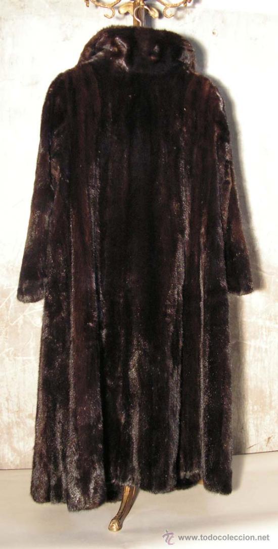 Antigüedades: Peletería Braun. Abrigo largo de visón marrón oscuro. Art Nouveau. - Foto 7 - 23570389