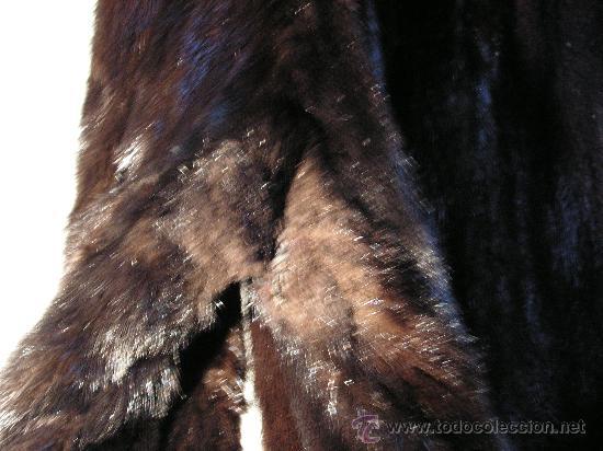 Antigüedades: Peletería Braun. Abrigo largo de visón marrón oscuro. Art Nouveau. - Foto 8 - 23570389