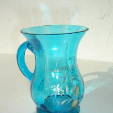 Antiquités: JARRA DE CRISTAL AZUL. Lote 23603477