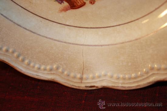 Antigüedades: PLATOS DE LA CARTUJA DE SEVILLA. ESPAÑA. SIGLO XIX. - Foto 5 - 89471927
