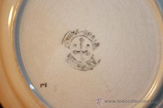 Antigüedades: PLATOS DE LA CARTUJA DE SEVILLA. ESPAÑA. SIGLO XIX. - Foto 6 - 89471927