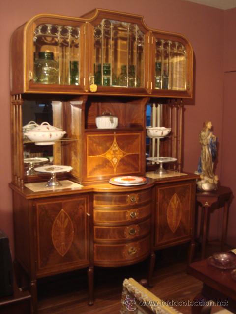 antiguo mueble art nouveau en madera de caoba c - Comprar Cómodas ...