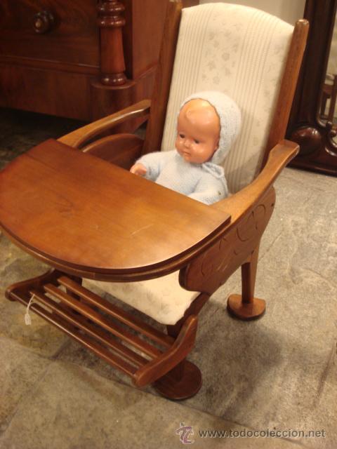 antigua silla de bebé en madera de nogal -rest - Comprar Sillas ...