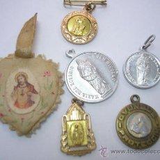 Antigüedades: LOTE DE ANTIGUOS ESCAPULARIOS (RELICARIOS) EXCELENTE ESTADO. Lote 26504146